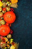 Rama jesieni owoc i warzywa Obrazy Royalty Free