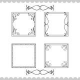 rama kaligraficzny rocznik Royalty Ilustracja