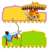 Rama killing Ravana in Dussehra Royalty Free Stock Photo