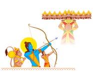 Rama killing Ravana during Dussehra. In vector Stock Photography