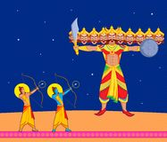 Rama killing Ravana during Dussehra Royalty Free Stock Photography