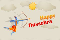 Rama killing Ravana in Dussehra Stock Photography