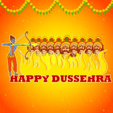 Rama killing Ravana in Happy Dussehra Stock Images