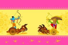 Rama killing Ravana in Happy Dussehra. Vector illustration of Rama killing Ravana in Happy Dussehra Stock Photography