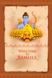 Rama killing Ravana in Happy Dussehra Stock Photography