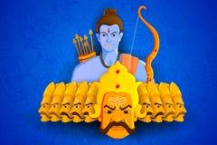 Rama killing Ravana in Happy Dussehra. Vector illustration of Rama killing Ravana in Happy Dussehra Royalty Free Stock Image