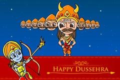 Rama killing Ravana in Happy Dussehra Royalty Free Stock Image