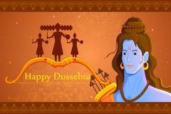 Rama killing Ravana in Happy Dussehra Stock Images