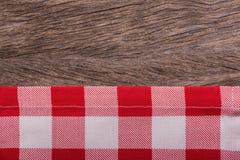 Rama kuchenni ręczniki Na teksturze zdjęcia stock