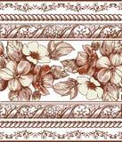 Rama. Kwiaty. Piękny rytownictwo. Zdjęcie Stock