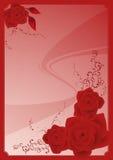 rama kwiecista rose ilustracji