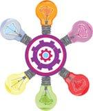 rama lightbulb o иллюстрация штока