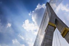Rama8 most z chmurami w Tajlandia Obraz Stock