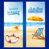 Rama na plażowym lecie Ilustracji