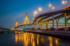 Rama nine bridge Royalty Free Stock Photo