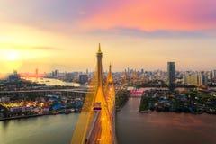 Rama nine bridge Royalty Free Stock Images