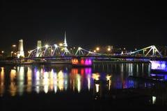 Rama 6, noite da ponte de Rama IV Foto de Stock