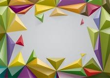 Rama od koloru ostrosłupa, Ty utrzymuje 3d formę możesz zmieniać kolor ilustracja wektor