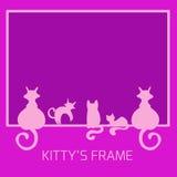 Rama od kotów Obrazy Royalty Free