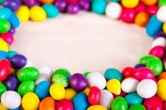 Rama od okręgu kolorowych cukierków cukrowi cukierki Obraz Royalty Free