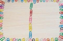 Rama od papierowych klamerek Fotografia Stock
