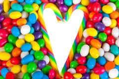 Rama od serca od kolorowych cukierków cukrowi cukierki Zdjęcia Royalty Free