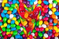 Rama od serca od kolorowych cukierków cukrowi cukierki Obraz Royalty Free