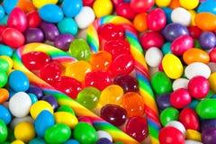 Rama od serca od kolorowych cukierków cukrowi cukierki Zdjęcia Stock