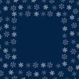 Rama płatki śniegu abstrakcjonistycznych gwiazdkę tła dekoracji projektu ciemnej czerwieni wzoru star white Projektować plakaty,  Obraz Stock