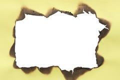rama palący papier Zdjęcia Stock