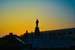 Rama8park del twiligt de Bangkok Imágenes de archivo libres de regalías