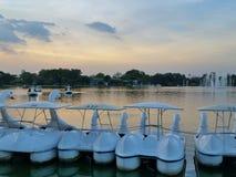 Rama9 parka basenu łódź Obraz Royalty Free