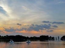 Rama9 parka basenu sundset Fotografia Stock