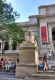 Rama principal de la biblioteca pública de Nueva York, Stephen A Edificio de Schwarzman, biblioteca Lion Patience, New York City, Imagenes de archivo