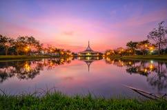 Rama9 public park sunset Royalty Free Stock Photos