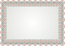 Rama - Rabatowy świadectwo z rocznika ornamentem obraz stock