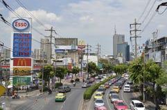 Rama 4 road Street view in Rama 4 Bangkok Thailand Stock Photos