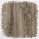 Rama robić drewno i śnieg Fotografia Royalty Free