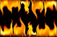 Rama robić pożarniczy płomień Zdjęcia Royalty Free
