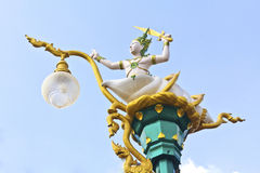 Rama sculpture at thai temple.  stock photography