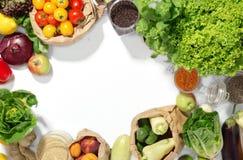 Rama set składniki dla zdrowego jedzenia Fotografia Royalty Free