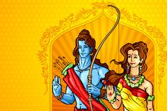 Rama and Sita Stock Photography