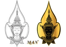 Rama thai face vector Stock Images