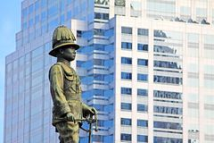 Rama VI国王纪念碑,曼谷,泰国 免版税库存图片