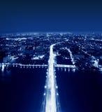 Rama VIII桥梁,曼谷,泰国上面  库存图片