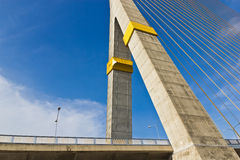 Rama VIII bridge in Bangkok Royalty Free Stock Images