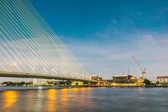 Rama VIII Bridge. Bangkok Thailand Royalty Free Stock Image