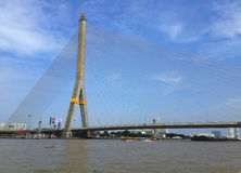 The Rama VIII Bridge Bangkok Thailand Stock Photo