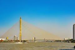 Rama VIII Bridge in Bangkok. Thailand Royalty Free Stock Photography