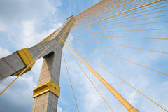 Rama VIII Bridge, bridge over the Chao Phraya River in Bangkok Royalty Free Stock Photography